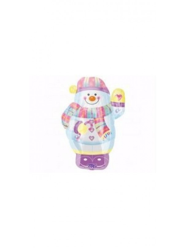 Whimsical Snowman Super Shape Foil Balloon