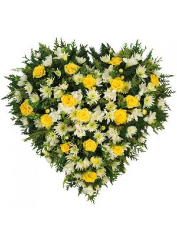 Yellow Heart Wreath