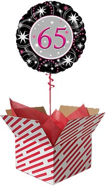 65th Birthday Sparkle Balloon