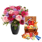 Mammy's Old Time Candy & Flower Gift Set