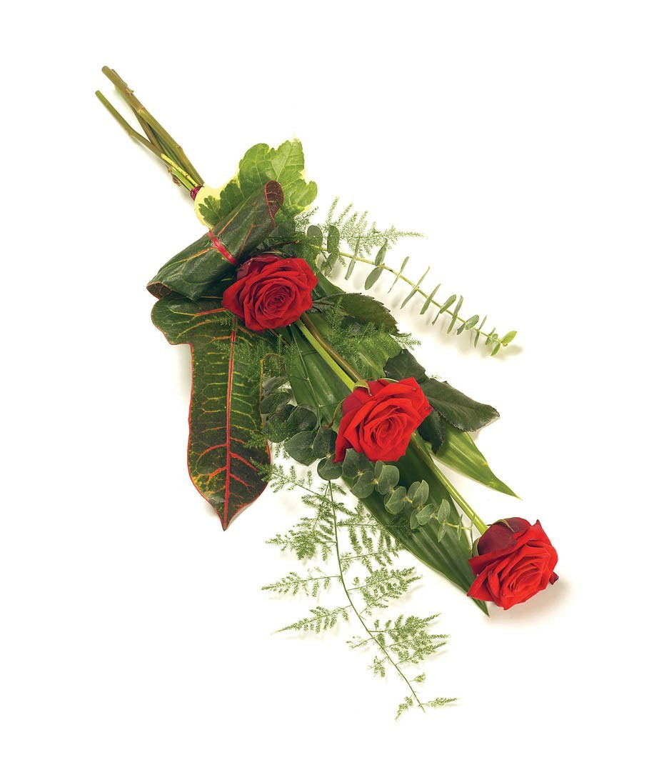 Sympathy flowers funeral flowers wreaths funeral spray 3 red rose shea izmirmasajfo