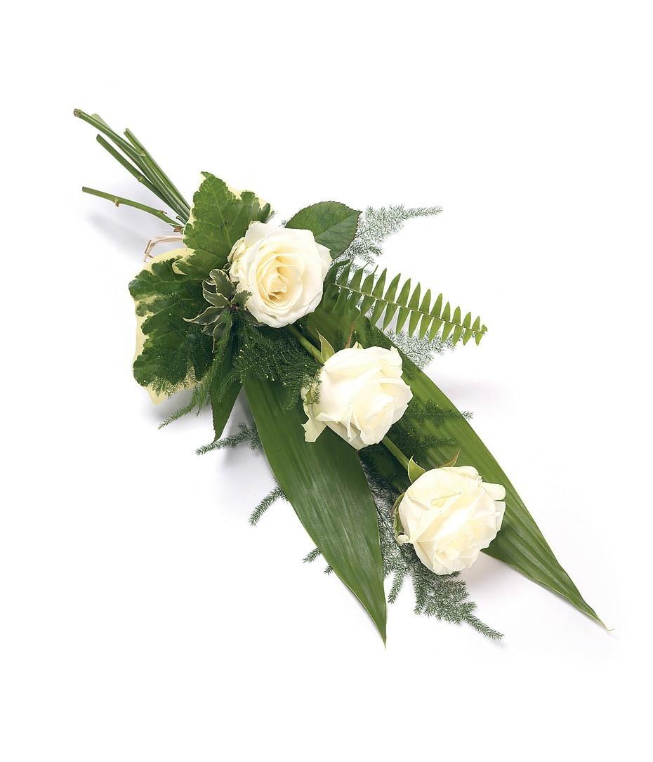 3 White Rose Sheaf