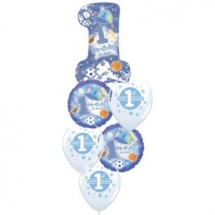 1st Birthday Baby Boy Balloon Bouquet
