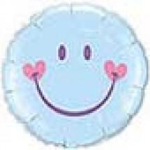 Sweet Smile Face Blue Balloon