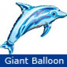 Giant Ocean Blue Dolphin Balloon