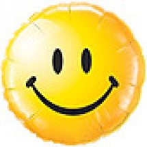 Smiley Face Balloon - Yellow