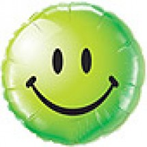 Smiley Face Balloon - Green