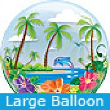Large Tropical Getaway Bubble Balloon