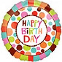 Happy Birthday Dots Balloon
