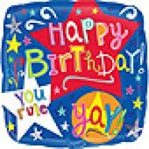 Birthday Stars Balloon Gift