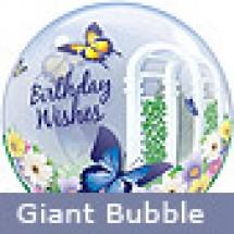 Birthday Wishes Butterflies Balloon