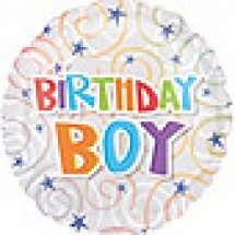 Birthday Boy Swirls Balloon