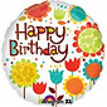 Cheery Flowers Birthday Balloon