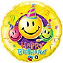 Smiley Faces Birthday Balloon