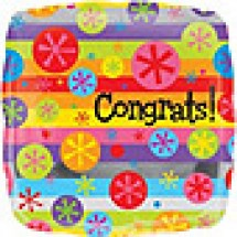Congratulations Bright Bubbles Balloon Gift