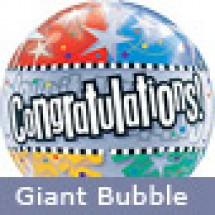 Large Congratulations Stars Helium Balloon