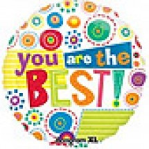 You Are The Best Whimsy Dots Foil Balloon