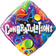 Congratulations Party Time Balloon