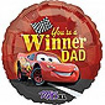 You're A Winner Dad - Cars Balloon