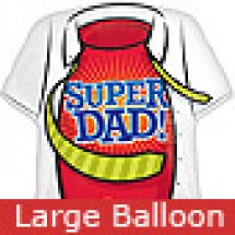 Large Super Dad Shirt Balloon