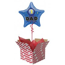 Star #1 Dad Balloon Gift
