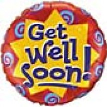 Get Well Soon Balloon - Burst & Swirls