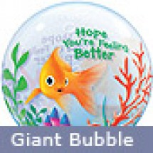 Fish Bowl Get Well Balloon