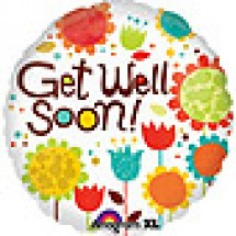 Cheery Flowers Get Well Balloon