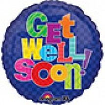 Multi Patterns Get Well Balloon