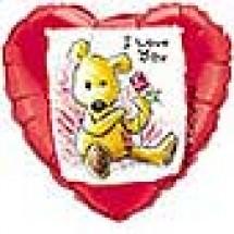 I Love You Single Rose Balloon