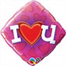 Love Heart U Balloon Gift