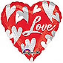 Swirl Hearts Love Balloon