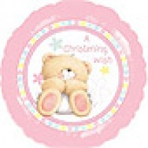 Forever Friends Pink Christening Balloon