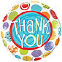 Thank You Patterned Dots Balloon