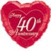 40th Happy Anniversary Balloon