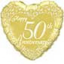 50th Happy Anniversary Balloon