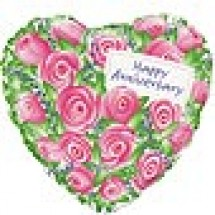 Pink Roses Happy Anniversary Balloon