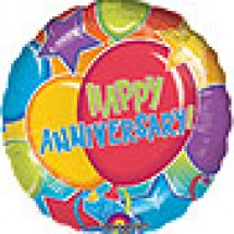 Happy Anniversary Glitter Balloon