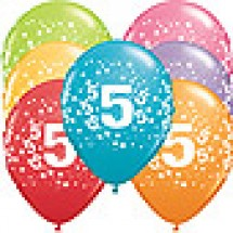 5th Birthday Stars Balloons