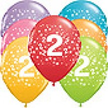 2nd Birthday Stars Balloons