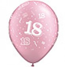 Pink 18th A-Round Birthday Balloons