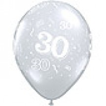 Diamond Clear 30th Birthday Balloons