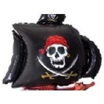 SUPER SHAPE LOOSE PIRATE SHIP BLACK