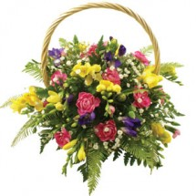 Freesia Flower Basket