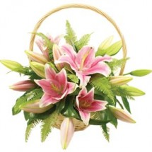 Lily Flower Basket