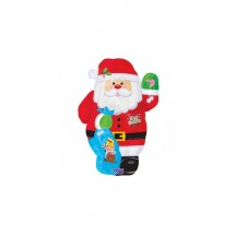Whimsical Santa Super Shape Foil Balloon