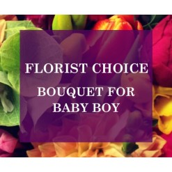 Florists Choice Bouquet For Baby Boy