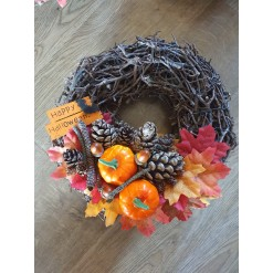 Bramble Style Halloween Wreath