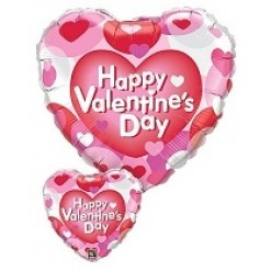 Happy Valentines Balloon Hearts In Box