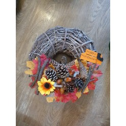 Wicker Halloween Wreath